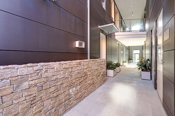 entrance area of apartment building