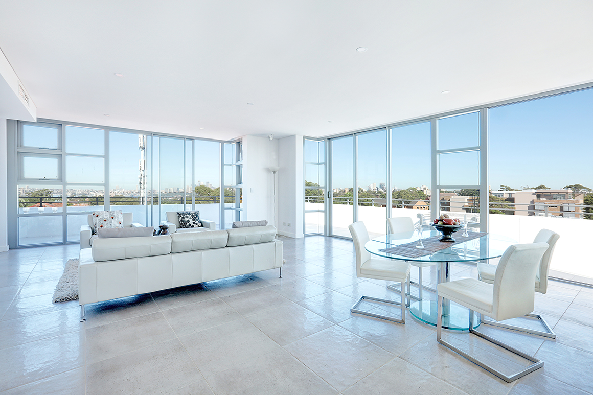 interior of a penthouse